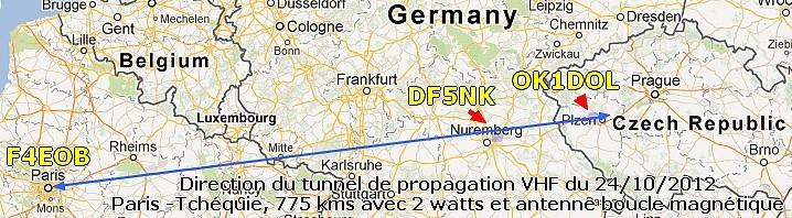 On constate que les trois stations s'alignent exactement sur un axe.