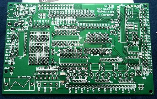 Circuit imprimé de la carte Gertboard.