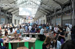Vue générale d'un niveau de la Maker Faire (Photo F5RDS)