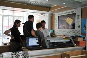 Machine de découpe laser et vinyl bientôt en libre-service (Photo F5RDS)